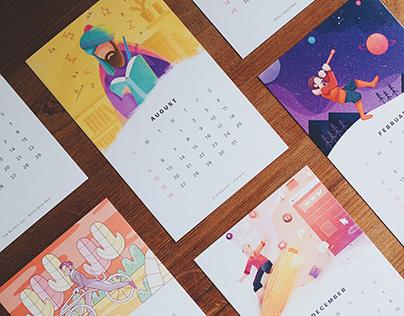 Paperpillar 2018 Calendar