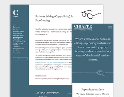 Chiappe Financial Editing & Writing