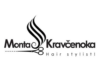 """Logo for Hair Stylist Named """"Monta Kravcenoka"""""""