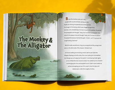 The Monkey and the Alligator Magazine Spread