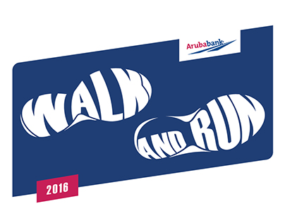 Logos Camisetas Walk and Run ArubaBank