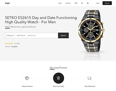 Jewellery Store Landing Page