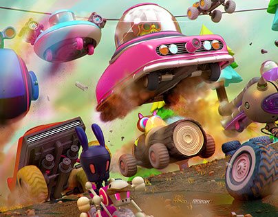 wacky racers and rubber friends