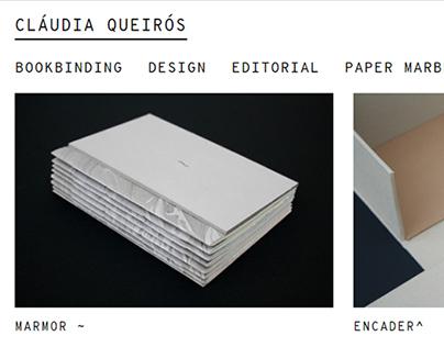 Cláudia Queirós: website project