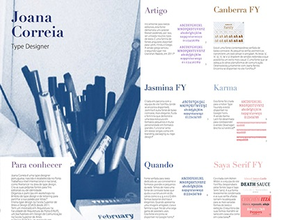 Poster about a type designer, Joana Correia