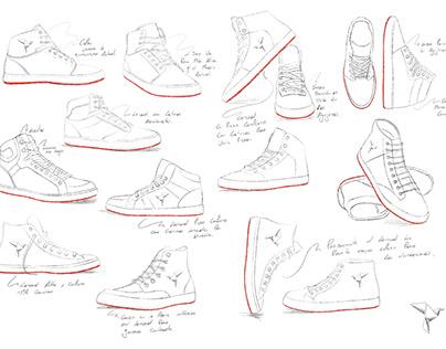 Desarrollo tenis y botas para los productos DiCreem