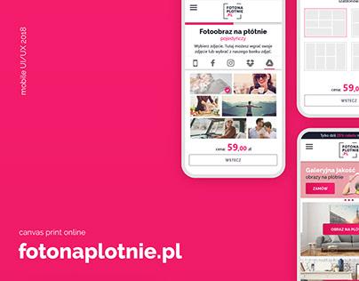 Fotonaplotnie.pl Mobile UI/UX 2018