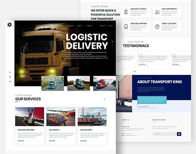 Latest Logistics Delivery Website UI Design