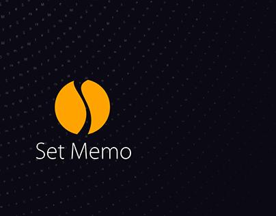Application Design + SetMemo App + Mobile Version