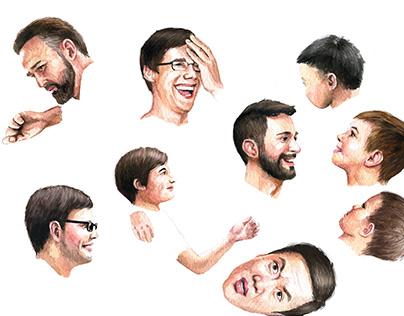 People: face, crowd, figure, body part,