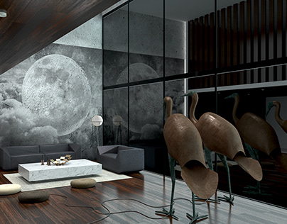 Full moon living room concept