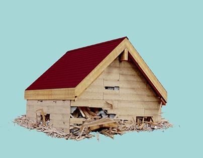 Wooden House Destruction