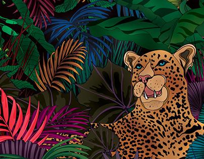 Night time in a jungle