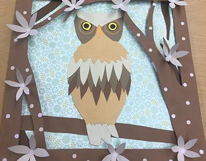 Cut Paper Owl