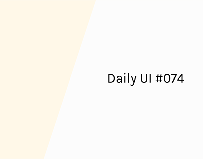Daily UI 74