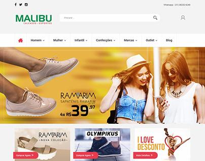 Loja virtual de calçados em Magento