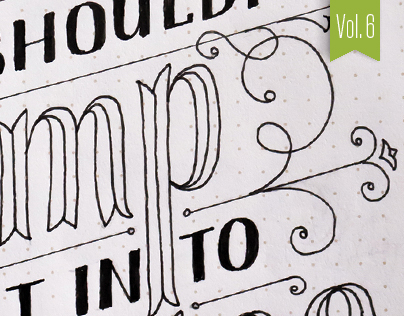 Hand-lettered Sketches – Vol. 6