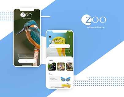 Moscow ZOO — mobile app UI/UX