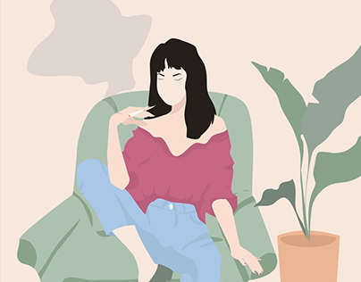 Illustration for a cannabis store