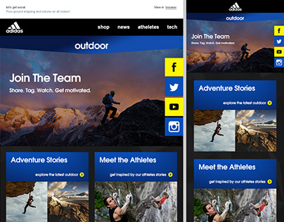 Outdoor Gear: Welcome Email Series