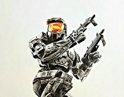 Halo Colored Pencil Drawing