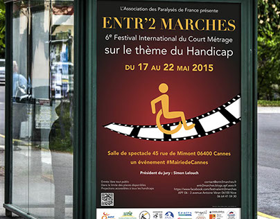 Poster & flyer for the Festival Entr'2 Marches