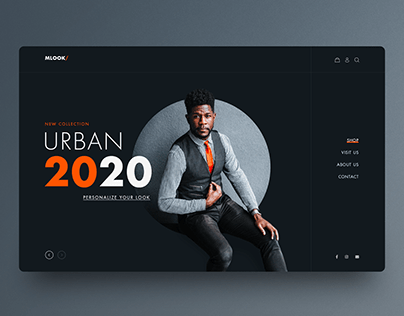Fashion for Men UI design