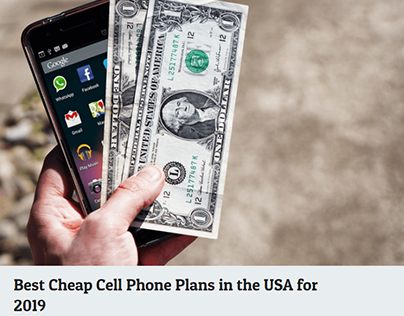 Best Cheap Cell Phone Plans in the USA
