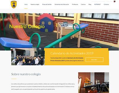 Diseño web para Colegio San Agustín Quirihue