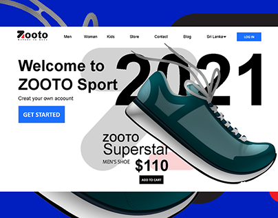 Home Page for Sports Store