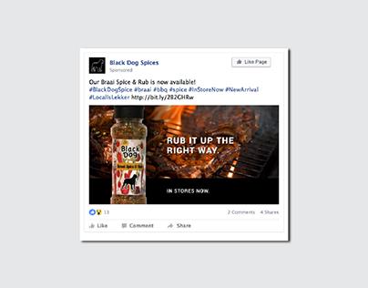 Black Dog Spices Social Media