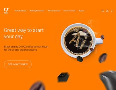 Adobe Coffee-Landing Page