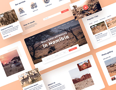 Travel agency website - UX/UI design
