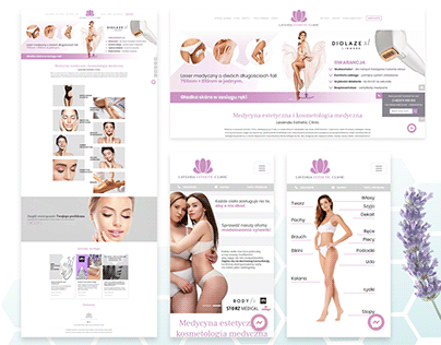 Lavenda Esthetic Clinic Website Design&Code