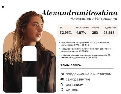 Карточка блоггера для сайта
