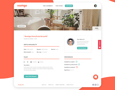 App UI design for web/mobile views and branding project
