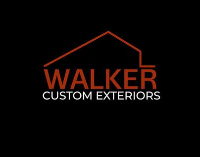 Walker Custom Exteriors Logo and Business Card Design