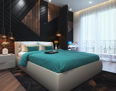 Apartment Brigade Exotica Master Bedroom