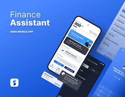 GIMO   Finance Assistant App   Mobile App UI UX