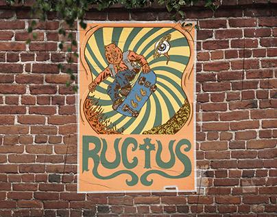Poster para a banda Ructus