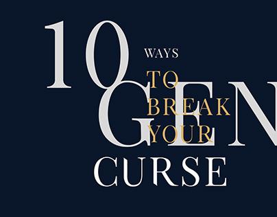 How to break your genetic curse | ISTD Typographic
