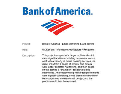 Bank of America - Email Marketing