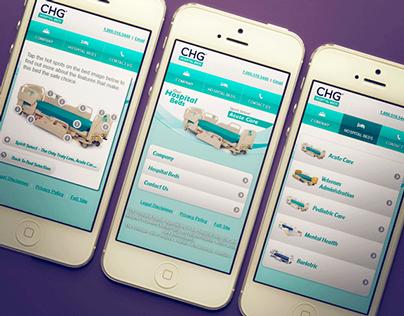 CHG Hospital Beds - Mobile Site Design