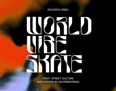 WORLD VIBE SKATERS/ skateboard font