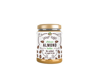 Label design for almond and cashew butter