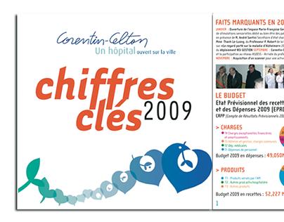 """Brochure """"chiffres Clés"""" Hôpital Corentin-Celton (2009)"""