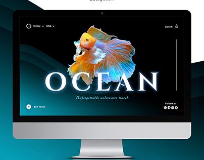 Дизайн первого экрана сайта путешествий