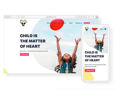 Geniuskids Website Design