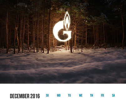 GAZPROM calendar concept