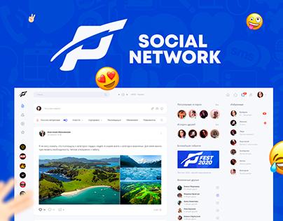 Social network PLIZI / UXUI